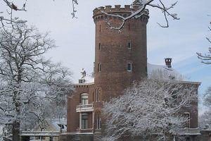 Het kasteel in de winter