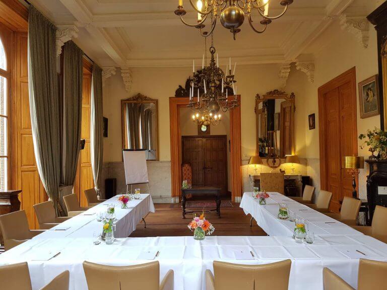 Zakelijke bijeenkomst, kleinschalig vergaderen met exclusiviteit