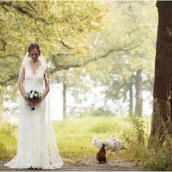 Bruid bij brug en kip kopie
