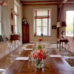 Zakelijke bijeenkomst, vergaderen in alle rust en mooie omgeving
